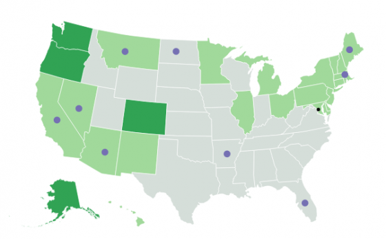 Where Is Marijuana Legalized Map Of US Marijuana Laws By State - Us map on weed laws